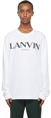 Lanvin White Logo Long Sleeve T-Shirt