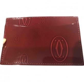 Cartier Burgundy Patent leather Purses, wallets & cases