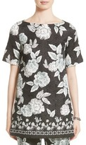 St. John Women's Textured Floral Print Tunic
