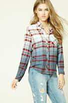 Forever 21 Ombre Plaid Flannel Shirt