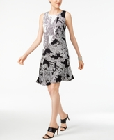 Alfani Petite Printed A-Line Dress, Created for Macy's