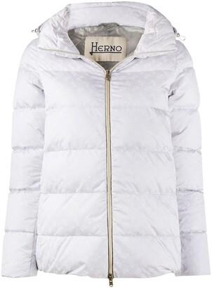 Herno Logo Pattern Puffer Jacket