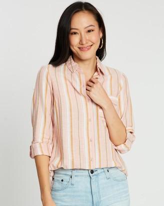 Dorothy Perkins Linen Closed Collar Shirt