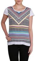 Nygard Collection Printed Cap Sleeve T-Shirt