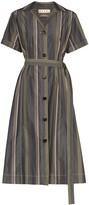 Marni Pinstripe Shirt Midi Dress
