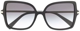 Valentino Eyewear Square Oversized Sunglasses