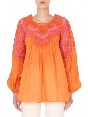 Alberta Ferretti Embroidered Blouse