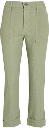Frame Le Beau Military Linen Pants