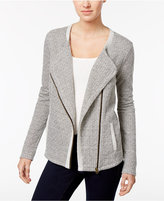 Style&Co. Style & Co Jacquard Moto Jacket, Only at Macy's