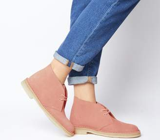 Clarks Desert Boots Coral Suede