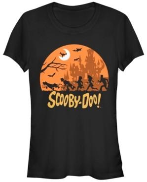 Fifth Sun Scooby-Doo Halloween Scene Women's Short Sleeve T-Shirt