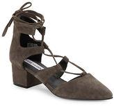 Steve Madden Wishez Soft Suede Lace-Up Heels