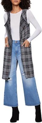 BCBGeneration Plaid Boucle Long Vest