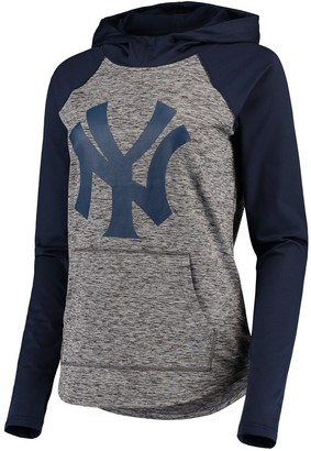 New York Yankees Women's G-III 4Her by Carl Banks Gray/Navy Championship Ring Pullover Hoodie