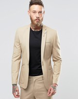 Asos Super Skinny Fashion Blazer In Camel