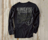 Madda Fella Long Sleeve Excursions - Lines In Print India Ink