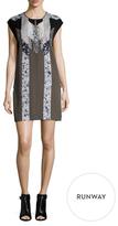 BCBGMAXAZRIA Isolde Silk Printed Shift Dress