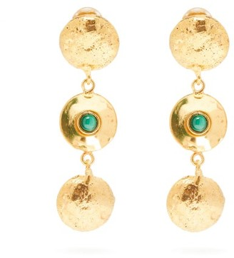 Sylvia Toledano - Malachite Disc-charm Drop Earrings - Green