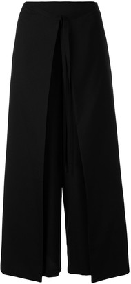 Enfold Layered Cropped Trousers
