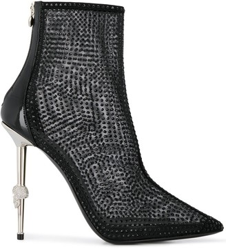 Philipp Plein Mesh Ankle Boots