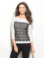 dressbarn roz&ALI Tiered Lace Sweater