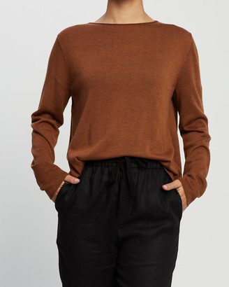White By FTL - Women's Brown Jumpers - Amy Sweater - Size One Size, XS at The Iconic