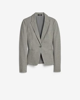 Express Soft Knit Peak Lapel Long Sleeve Blazer