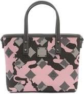 MCM Mini Anya Camo Printed Tote Bag