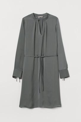H&M Tie-detail Dress - Green