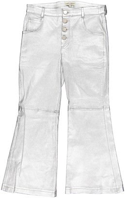 Each X Other Each X Silver Leather Trousers for Women