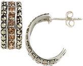 Lord & Taylor Embellished Cuff Hoop Earrings