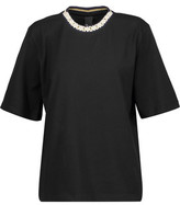 Mother of Pearl Charlie Metallic Embellished Cotton-Jersey T-Shirt