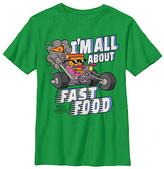 Fifth Sun Boys' Tee Shirts KELLY - Uncle Grandpa Kelly Green Pizza Steve 'Fast Food' Tee - Boys