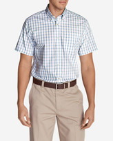 Eddie Bauer Men's Wrinkle-Free Relaxed Fit Pinpoint Oxford Shirt - Short-Sleeve Pattern