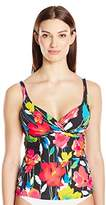 Anne Cole Women's Growing Floral Underwire Twist Tankini