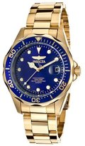 Invicta 17052 Women's Pro Diver Analog Blue Dial Japanese Quartz Gold Watch