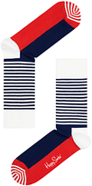 Happy Socks Half Stripe Cotton Mix Socks, One Size