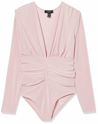 Forever 21 Women's Plus Size Ruched Stretch-Knit Bodysuit