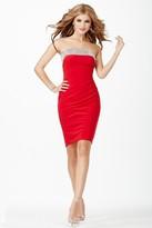 Jovani JVN26926 Strapless Fitted Jersey Sheath Dress