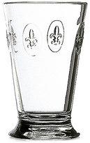 French Home La Rochère Glassware, Set of 6 Fleur De Lys Highball Glasses