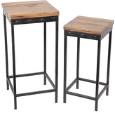 Privilege Straight-Base Wood & Metal Plant Stands