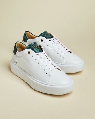 Ted Baker PIIXIE Snake effect leather platform trainers