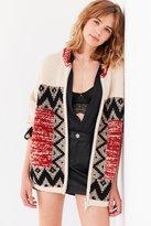 Ecote Harper Patterned Zip-Up Sweater Jacket