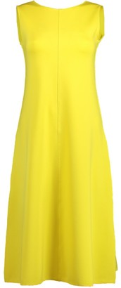 Aspesi Yellow Sleeveless A-Line Crewneck Dress