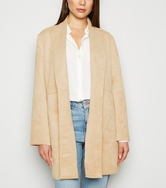 New Look Suedette Duster Jacket