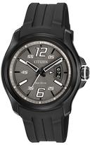 Citizen Black Rubber-Strap Bracelet Watch - Men