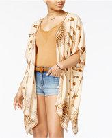 American Rag Juniors' Feather-Print Kimono