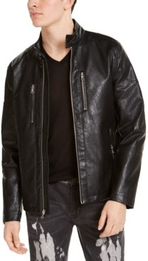 INC International Concepts Inc Men's Mateo Faux Leather Moto Jacket, Created for Macy's
