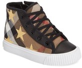 Burberry Toddler Girl's Warslow High Top Star Sneaker
