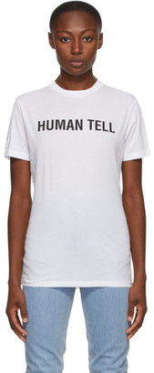 Helmut Lang SSENSE Exclusive White Human Tell T-Shirt